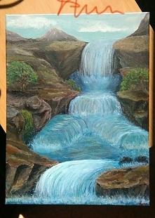 Cześć, piszcie co sądzicie o obrazie. :-) Natura, z wyobraźni, akryle na płótnie