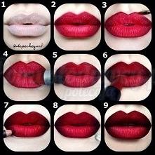 Fantastycznie pomalowane usta :)