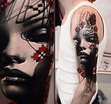 d face tattoo