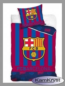 Klubowa pościel Barcelony dla wiernych kibiców Barcy w rozmiarze 160x200 cm