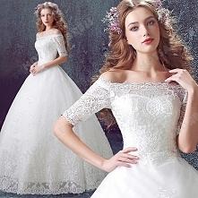 Luxury Lace Strapless Long-sleeved Wedding Dress Floor-Length 2016 New Custom Made