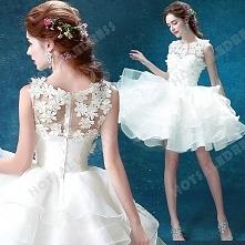 Short/Mini Sweetheart Sleeveless White Bridesmaid dress/ Wedding Dress 2016 New