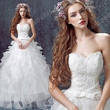 Princess Sweetheart Lace Strapless Floor-Length Wedding Dress 2016 New Custom Made