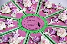tort z papieru prezent na ślub