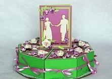 Komplet ślubny kartka i tort