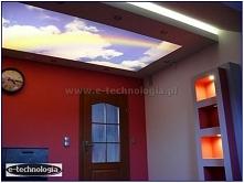 Sufit ze zdjęciem nieba to bardzo dekoracyjny sposób na stworzenie klimatu w ...