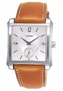 Zegarek męski na skórzanym pasku z kwadratową kopertą Citizen BE9110-31B Możliwość zakupu, link w komentarzu :)