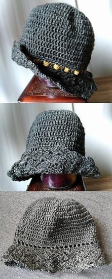 szydełkowy kapelusz