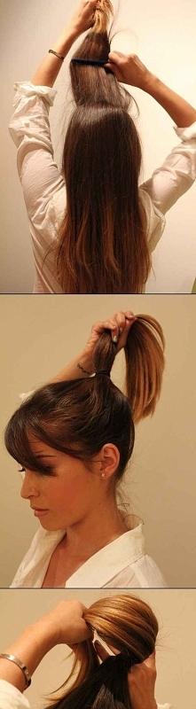 Szybki pomysł na związanie włosów