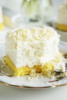"""pyszne ciasto """"Biały puch"""" przepis po kliknięciu w zdjęcie na mysweetworld.pl"""