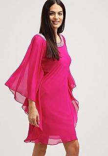 Luksusowa sukienka z szyfonu różowa
