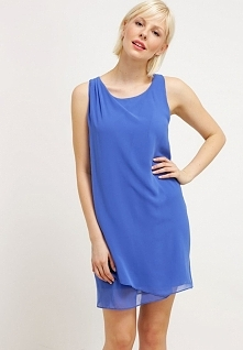 Letnia sukienka z szyfonu niebieska