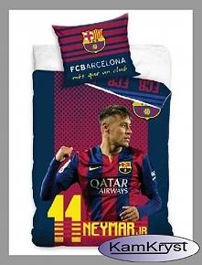 Propozycja dla fanów Fc Barcelona - pościel Neymar - pościel w rozmiarze 160x200 cm - 100% bawełna