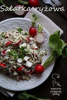 Sałatka ryżowa z rzodkiewkami