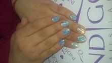 Glass nails + syrenka na mięcie. :)