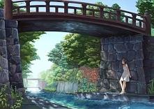Dziewczyna stojąca pod most...
