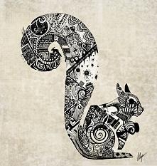 Wiewiórka zentangle