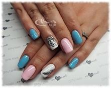 Wiosenne pastele   Stylizacja by Olga, Studio Magnetic Nails Monika Sokołowska Kielce