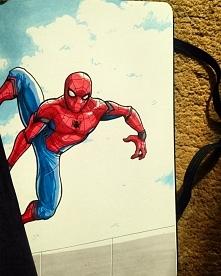 Spiderman w wykonaniu Pana Kulki. ;) Mnie jego kreska urzekła, więc jestem na bieżąco z jego pracami na instagramie i facebooku, gorąco polecam. :D