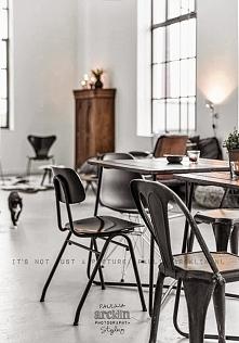 Industrialna jadalnia i salon w industrialnym stylu - zobacz jak urządzić wnę...
