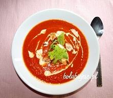 Pyszny krem paprykowo pomidorowy.  przepis po kliknięciu w zdjęcie oraz na fa...