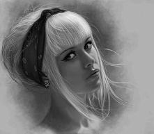 świetny portret, oczywiście wszystko namalowane ołówkami