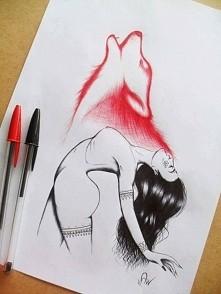 Uwolnij swojego wilka ! Cudowny rysunek ♡!