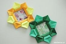 Filmik prezentujący sposób tworzenia ramki origami
