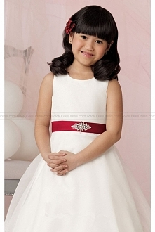 Organza Satin Dress By Jordan Sweet Beginnings Collection L629