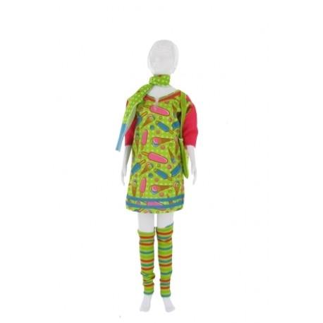 Bajecznie kolorowe Ubranko Sally Lollipop do uszycia dla Lalki o wymiarach Barbie.   Strój z Kolekcji Dress your Doll dla lalki o wymiarach Barbie do samodzielnego uszycia dla Dzieci od lat 7.  Wzór w lody, getry w paseczki oraz szal w kropeczki  Stopień trudności 1 w skali od 1-4, czyli bardzo łatwy.  Sprawdźcie sami:)  #dressyourdoll #sallylollipop #ubrankodlalalki #zabawkidouszycia #niczchin #krakow  , sally lollipop, , , niczchin, kraków