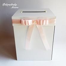 Pastelowe pudełko na kartki...