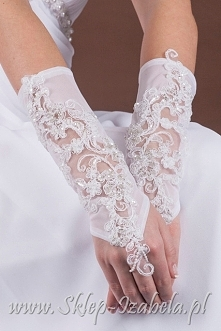 Rękawiczki ślubne dla Panny Młodej