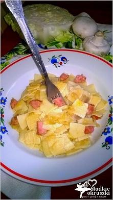 Najprostsze łazanki z białej kapusty. Pyszny i tani obiad. Przepis po kliknię...