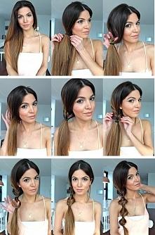 pomysł na ciekawą fryzurę :) - sprawdziłam, bardzo prosta! :)