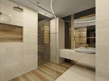 Wystrój wnętrza łazienki z piękną umywalką i luksusowym wykończeniem.
