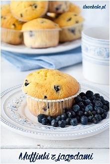 Muffinki z jagodami