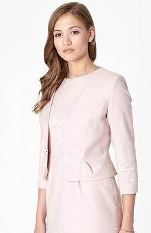 Click Fashion Agreda marynarka Krótki, wizytowy żakiet, dopasowany krój w kolorze pudrowego różu, bez kołnierza