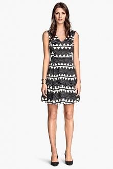 Nowa 34 H&M sukienka aztec rozkloszowana insta