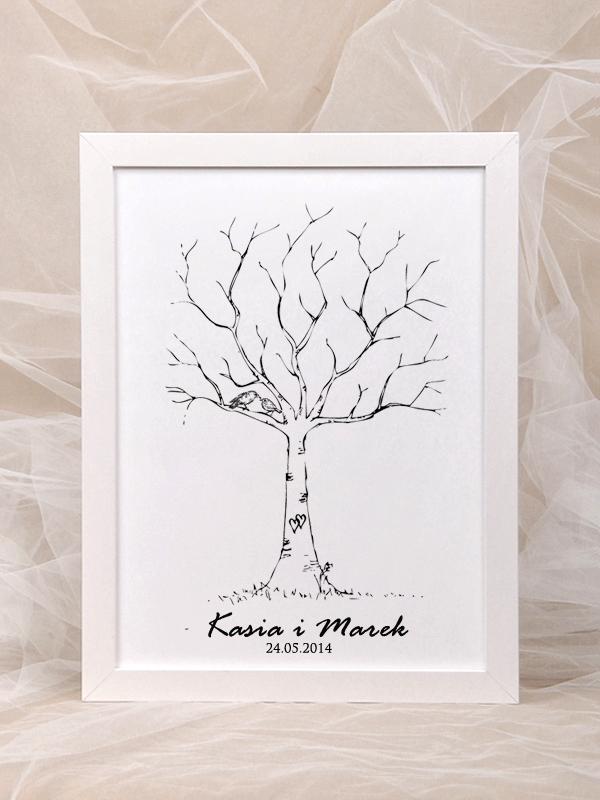 """Księga gości weselnych """"Drzewo"""" Kliknij w zdjęcie, aby przejść do sklepu"""