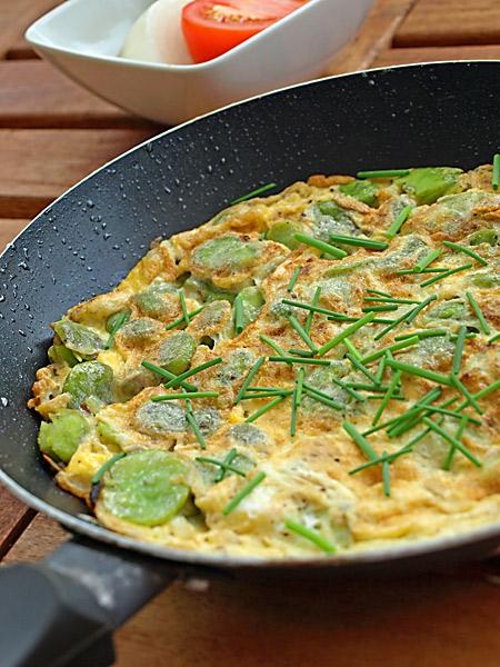 Tortilla z bobem (Tortilla de habas)