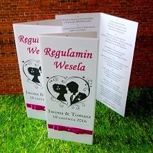 Regulamin wesela z kolekcji VERONA :) biel i amarant  Masz pytania? Pisz! :) ...