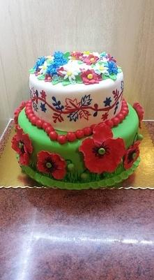 A jednak marzenia się spełniają :D pierwszy tort weselny za mną. Tort w stylu...
