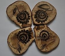 Podkładki drewniane, dębowe...