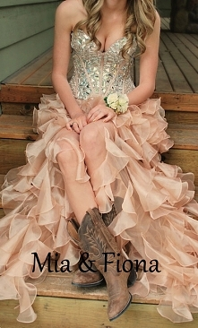 Rhinestones Beaded Corset Top Pink Ruffled High Low Prom Dress