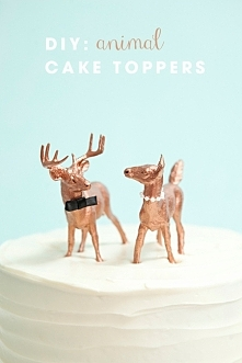 figurki na tort zwierzęta DIY