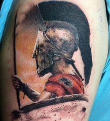 spartan tatuaż