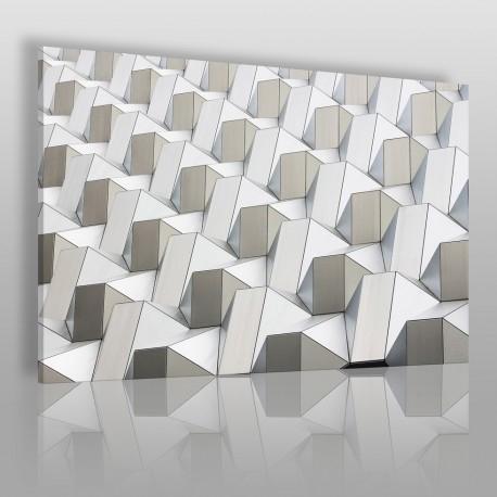 Pattern w bieli - nowoczesny obraz na płótnie