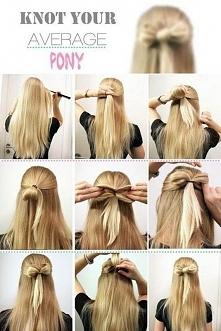 kokardka :) urocza fryzura na letnie dni.