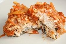 Ryba po grecku z piekarnika, nie wszyscy lubią ale na imprezie wszyscy jedzą ...