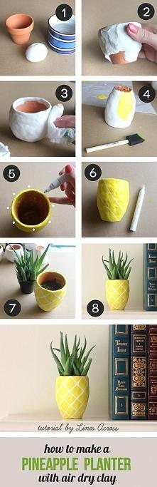 Doniczka inspirowana ananasem